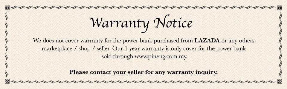 PINENG Warranty