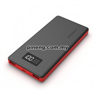 NEW PINENG PN-963 10000mAh Lithium Polymer Power Bank - Black