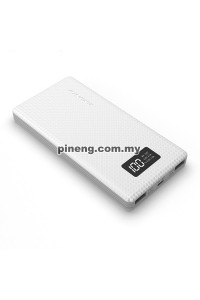 NEW PINENG PN-963 10000mAh Lithium Polymer Power Bank - White