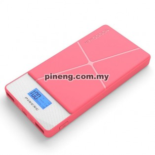 PINENG PN-983s 10000mAh Lithium Polymer Power Bank - Pink