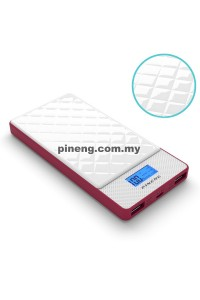 PINENG PN-983b 10000mAh Lithium Polymer Power Bank - Diamond Red