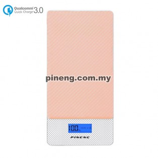 PINENG PN-993 10000mAh Quick Charge 3.0 Type C Polymer Power Bank - Pink