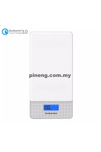 PINENG PN-993 10000mAh Quick Charge 3.0 Type C Polymer Power Bank - White