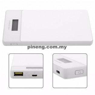 PINENG PN-993 10000mAh Quick Charge 3.0 Type C Polymer Power Bank - White