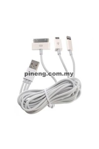 3 In 1 Charging Cable (Lightning / 30 Pin / Micro USB) - 1 Meter