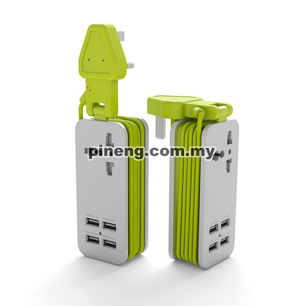 PINENG PN-333 4 USB Ports Extension Char...