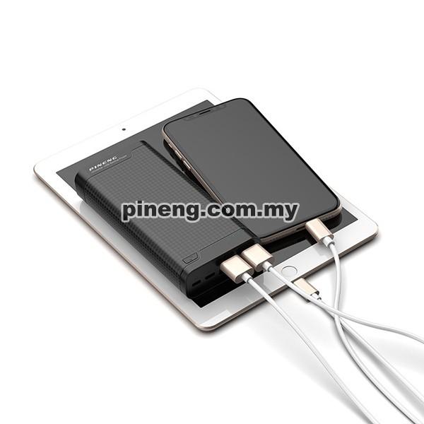 PINENG PN-932 20000mAh Lithium Polymer Power Bank - Black