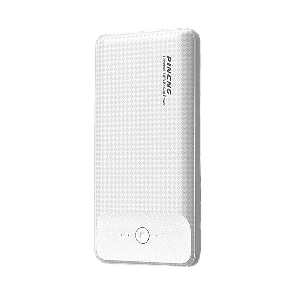 PINENG PN-936 10000mAh 3 Input Lithium Polymer Power Bank - White