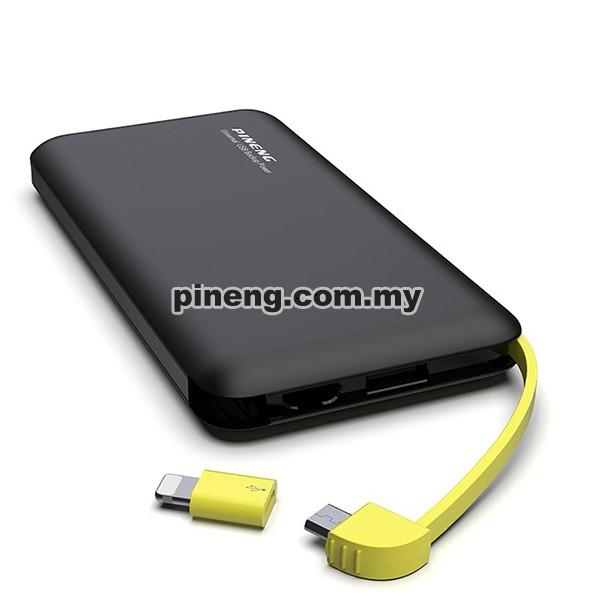 PINENG PN-955 10000mAh Lithium Polymer Power Bank - Black