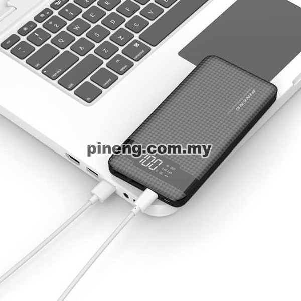 PINENG PN-961 10000mAh 3 Input Quick Charge 3.0 Lithium Polymer Power Bank - Black