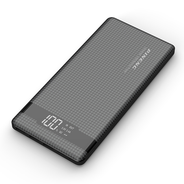 PINENG PN-962 20000mAh 3 Input & 3 Output Quick Charge 3.0 Lithium Polymer Power Bank - Black