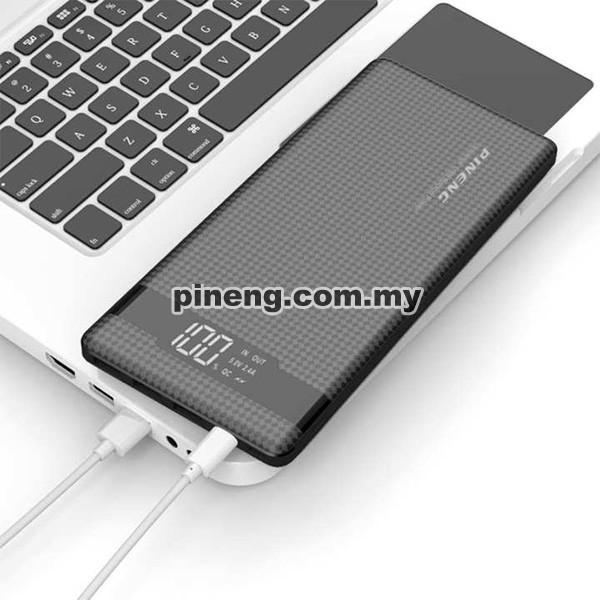 PINENG PN-962 20000mAh 3 Input & 3 Output Quick Charge 3.0 Lithium Polymer Power Bank - Black