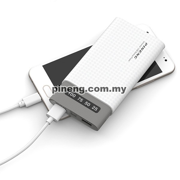 PINENG PN-981 10000mAh Lithium Polymer Power Bank - Black