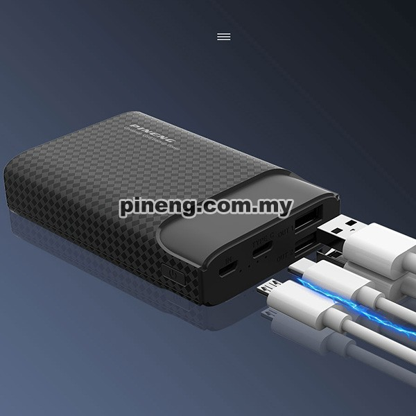 PINENG PN-985 10000mAh Lithium Polymer Power Bank - Black