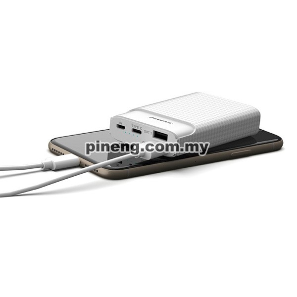 PINENG PN-986 10000mAh Quick Charge 3.0 Type-C PD Power Bank - White