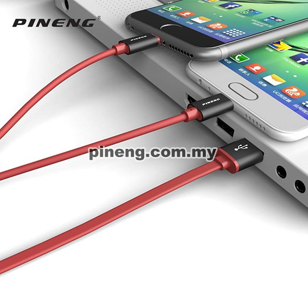 PINENG PN-316 3 in 1 Micro USB + Lightning + Type C High Speed Data & Charging Cable