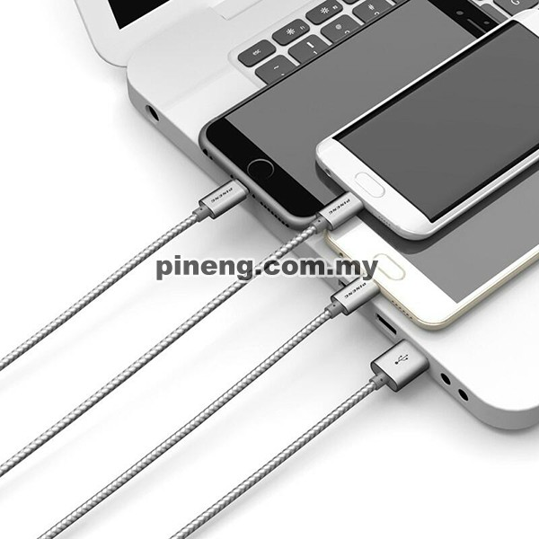 PINENG PN-317 3 in 1 Micro USB + Lightning + Type C High Speed Data Charging Cable