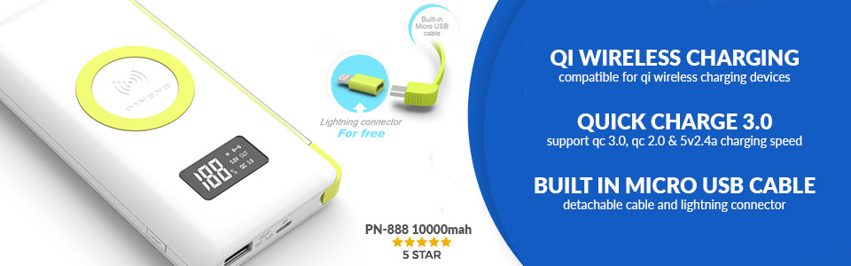 PINENG PN888 Qi Wireless + Quick Charge 3.0