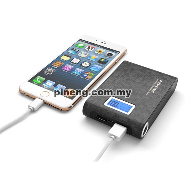 PINENG PN-913 10000mAh Power Bank - Starlight Black