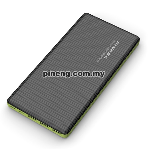 PINENG PN-917 20000mAh 3 Input & 3 Output Lithium Polymer Power Bank - Black