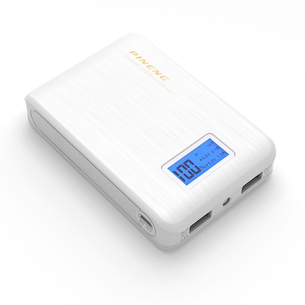 PINENG PN-928 10000mAh Power Bank - Whit...