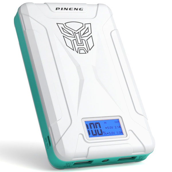 PINENG PN-933 10000mAh Power Bank - Whit...