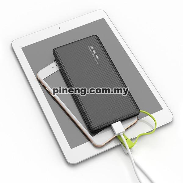 PINENG PN-951 10000mAh Lithium Polymer Power Bank - Black
