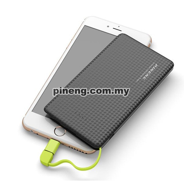 PINENG PN-952 5000mAh Lithium Polymer Power Bank - Black