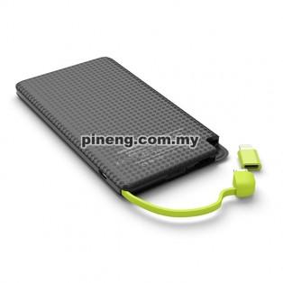 PINENG PN-952 5000mAh Lithium Polymer Power Bank - White
