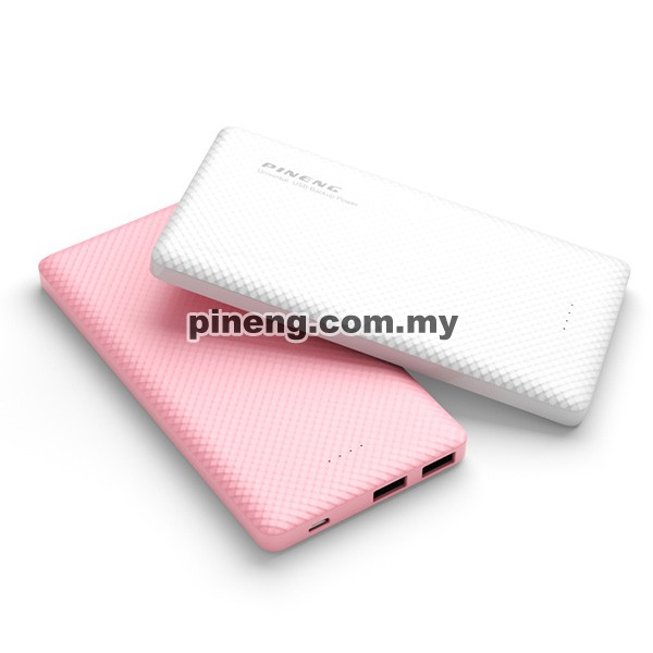 PINENG PN-958 10000mAh Lithium Polymer Power Bank - Pink