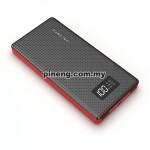 NEW PINENG PN-963 10000mAh Lithium Polymer Power Bank - Black
