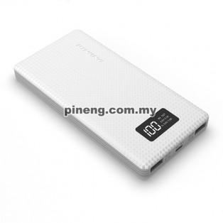 NEW PINENG PN-963 10000mAh Lithium Polymer Power Bank - White