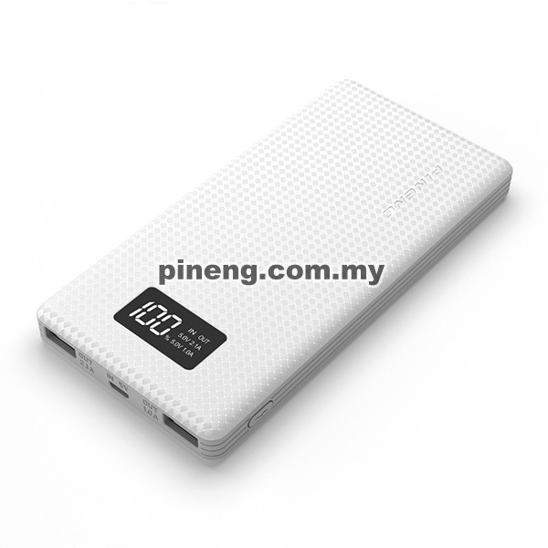 PINENG PN-963 10000mAh Lithium Polymer Power Bank - White