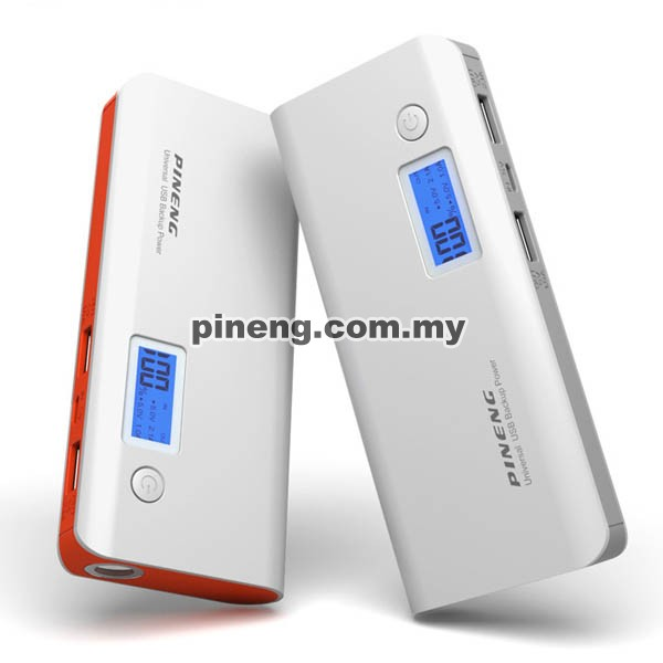 PINENG PN-968 10000mAh Power Bank - White Orange
