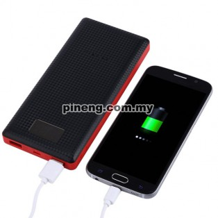 NEW PINENG PN-969 20000mAh Lithium Polymer Power Bank - Black