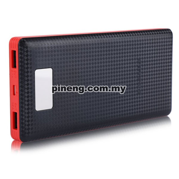 PINENG PN-969 20000mAh Lithium Polymer Power Bank - Black