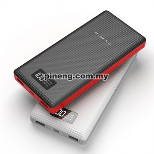 NEW PINENG PN-969 20000mAh Lithium Polymer Power Bank - White