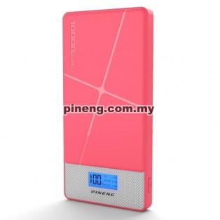 PINENG PN-983s 10000mAh Lithium Polymer Power Bank - Pink