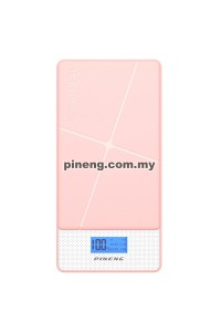 NEW PINENG PN-983s 10000mAh Lithium Polymer Power Bank - Pink