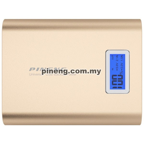 PINENG PN-988 10000mAh Power Bank - Gold