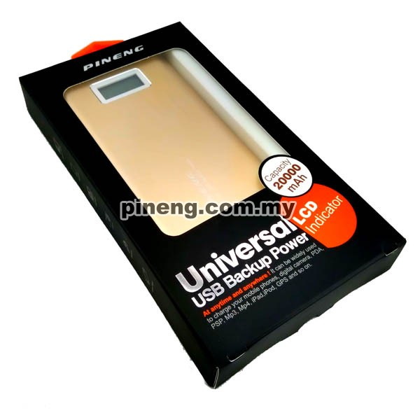 PINENG PN-989 20000mAh Power Bank - Gold
