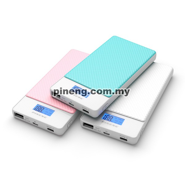 PINENG PN-993 10000mAh Quick Charge 3.0 Type C Polymer Power Bank - Blue