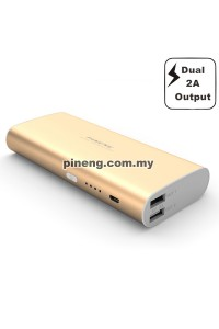 PINENG PN-998 10000mAh Power Bank - Gold