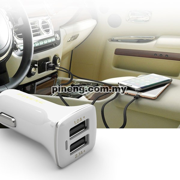 PINENG PN-522 2.1A Dual USB Car Charger