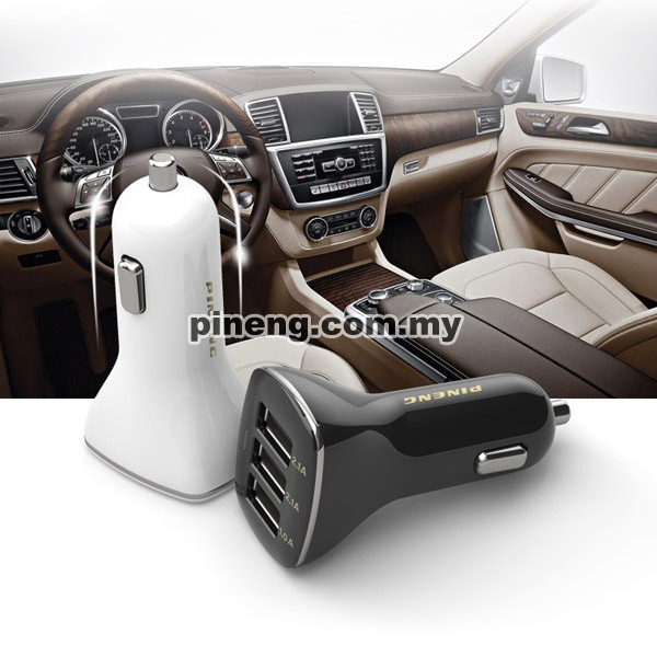 PINENG PN-523 5.2A 3 USB Car Charger