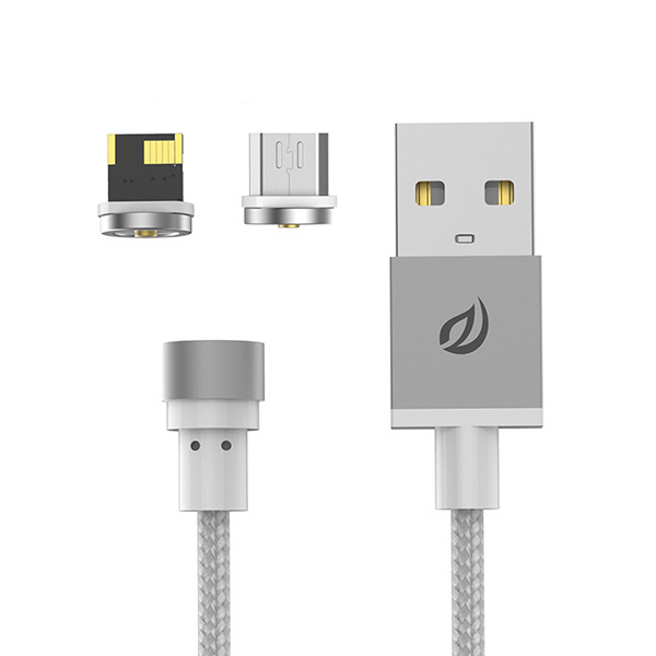 WSKEN Micro USB / Lightning 2.1A Round Magnetic X-Cable