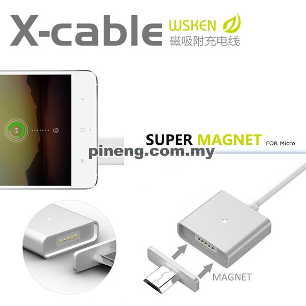 WSKEN X-CABLE 2.4A Magnetic Micro USB Da...